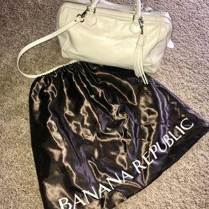 Banana Republic White Leather Bag Purse